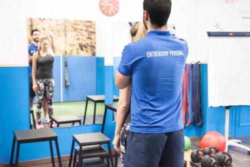 sesión entrenamiento personal