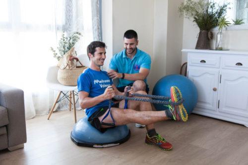 sesión entrenamiento personal en casa