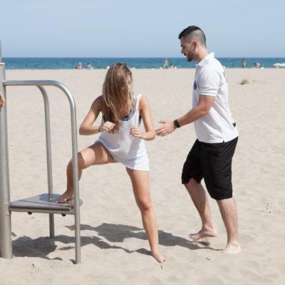 entrenador personal: la sentadilla