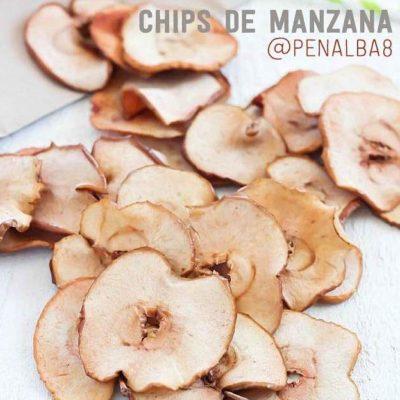 alimentación: chips de manzana