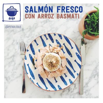 alimentación: ventajas del salmón fresco con arroz basmati