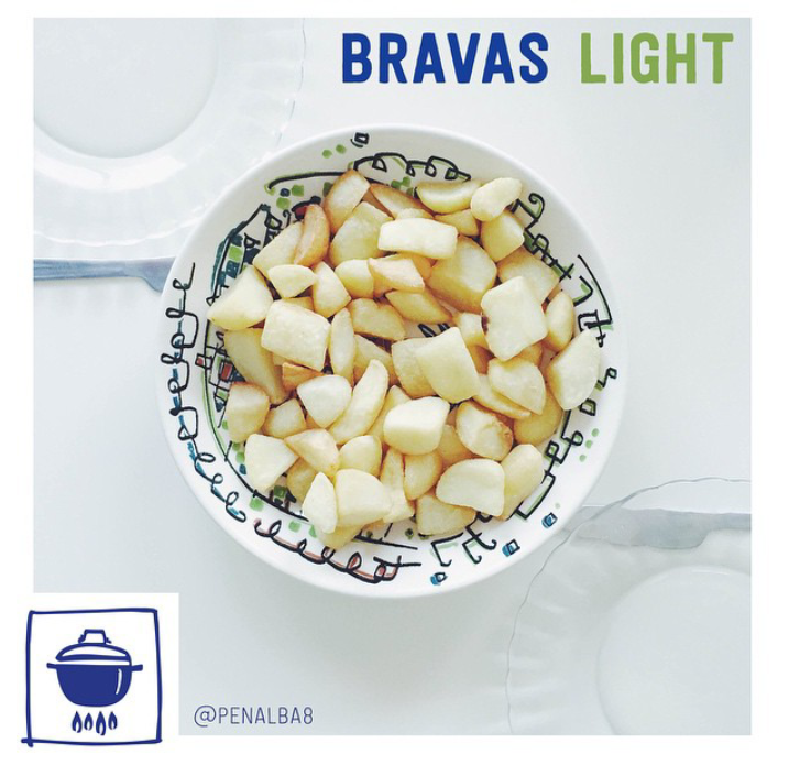 alimentación: cocina patatas bravas light